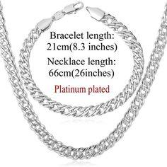 Elegant 18K Gold /Platinum/Rose Gold Plated Necklace Bracelet Jewelry Set