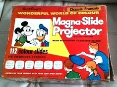 Vintage 1950's Walt Disney Mickey Mouse French Magna Slide Projector with Box and 16 Slide by treasuresmemories80 on Etsy