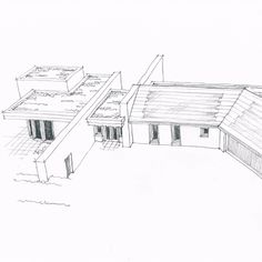 John McCall Architects, Private Eco-house. Initial design sketch