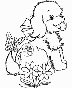 Pussy Dog Coloring Page For Kids Animal Pages Printables Free