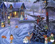 Free Christmas Screensavers | Christmas Winter Scenes