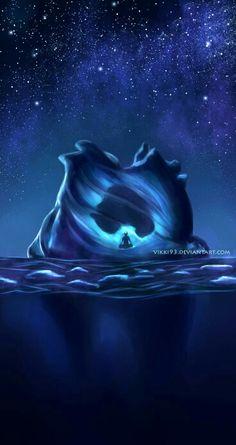 Aang, Appa, iceberg, frozen; Avatar: the Last Airbender