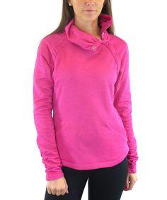 Loving this Ryka Heather Magenta Snap Collar Pullover - Women & Plus on #zulily! #zulilyfinds
