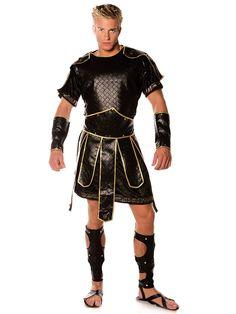 about costume shop mens spartan costume roman top and beltarm cuffsleg wrapsvelvet tunic w gold trim roman top and belt arm cuffs leg wraps velvet tunic