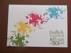 """Sconebeker Stempelscheune: 4 schnelle bunte Geburtstagskarten mit dem Stampin up Set """" Gorgeous Grunge """""""
