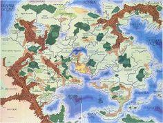 Flanaess, World of Greyhawk, originally made by Gary Gygax (Blackmoor by Dave Arneson)