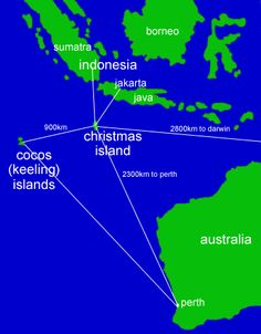 christmas island in relation to australia