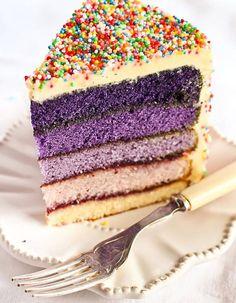 Rainbow cake violet