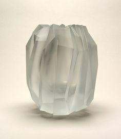 Glacier Vase, 2004 designed by Sebastian Menschhorn / Mouth-blown crystal…
