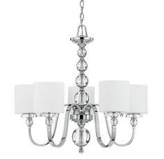Glass and Chrome Chandelier