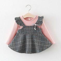 Frocks For Girls, Little Girl Dresses, Girls Dresses, Baby Girl Fashion, Toddler Fashion, Kids Fashion, Style Fashion, Baby Girl Dress Patterns, Baby Dress