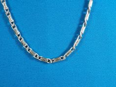 Silver 3 mm Station Link Chain