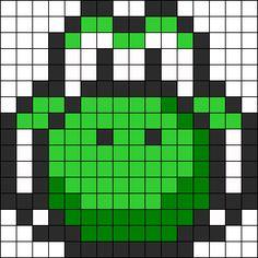 Yoshi Head Perler Bead Pattern / Bead Sprite