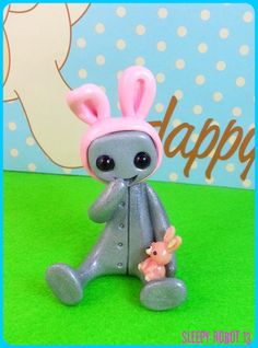 Easter Botty Robot Pink Limited Edition by sleepyrobot13 on Etsy