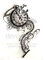Znalezione obrazy dla zapytania clock bird tattoo