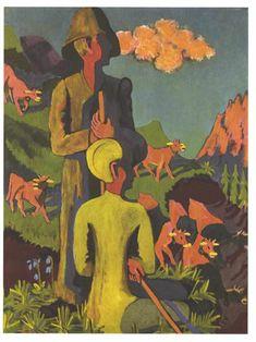 Shepherd in the evening - Ernst Ludwig Kirchner