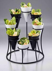 www.webstaurantstore.com: Black Wrought Iron 8-Cone Stand $21.49 each.