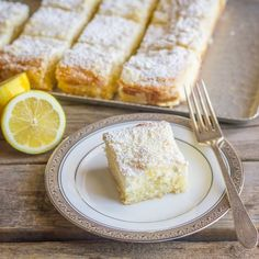 Greek Yogurt Cream Cheese Lemon Coffee Cake - sweet and moist with a light lemon flavor and a creamy, crumbly topping.
