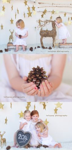 Winter Photo Session Idea / Holiday Card Idea. Christmas collage by lollypop photography | bendigo kids photographer