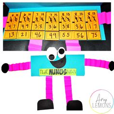 "Students have a fun time with ""The Minus Man""  for Subtraction with Regrouping practice!"