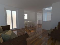 internal view from lounge through to proposed extension