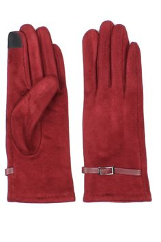 Faux Suede Touch Screen Gloves for Women @ www.sunben.com - wholesale fashion accessories