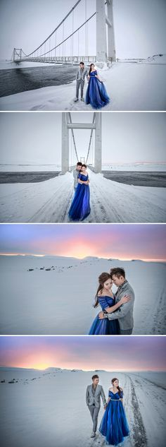 Aaron and Serene's Ice Cave Engagement Shoot in Iceland