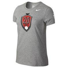 Nike   Womens  USA Wambach #20 Soccer Tee (Gray)