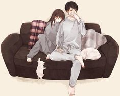 Discovered by Marwa A. Find images and videos about art, anime and nice on We Heart It - the app to get lost in what you love. Cute Couple Drawings, Anime Couples Drawings, Cute Couple Art, Anime Love Couple, Manga Couple, Anime Couples Manga, Anime Couples Sleeping, Anime Couples Cuddling, Couple Sleeping