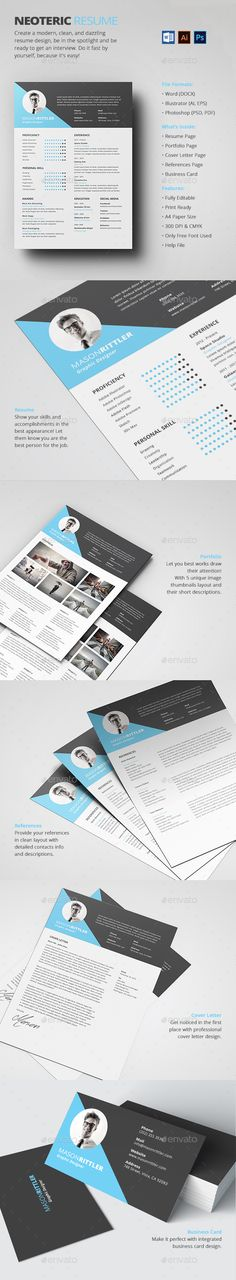 Resume Pinterest Template, Resume cv and Cv template