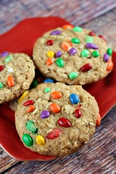Chocolate Covered Sunflower Seed Oatmeal Cookies. #recipes #food #cookies #rainbow
