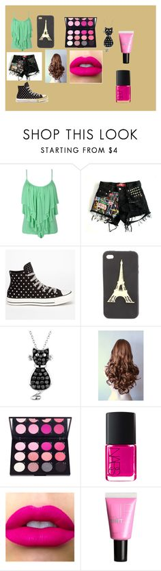 """""""Passeio"""" by artemisa-538 ❤ liked on Polyvore featuring Converse, Charlotte Russe, Reeds Jewelers, NARS Cosmetics and H&M"""