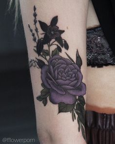 "2,993 Likes, 10 Comments - Olga Nekrasova (@fflowerporn) on Instagram: ""Garden rose, aquilegia, lavender and lily of the valley for Daria #tattoo #tattoos #tattooed…"""