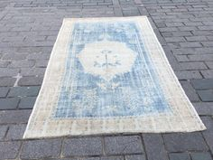 Excited to share the latest addition to my #etsy shop: Blue Turkish Carpet, Oushak Rug, Vintage Rug, 4.9x7.8 ft, Medium carpet, Distressed Carpet, Antique Rug, Boho Rug, Bath Rug, Kitchen Carpet Medium Rugs, Kitchen Carpet, Rustic Rugs, Traditional Rugs, Small Rugs, Floor Rugs, Rugs In Living Room, Rugs On Carpet, Vintage Rugs