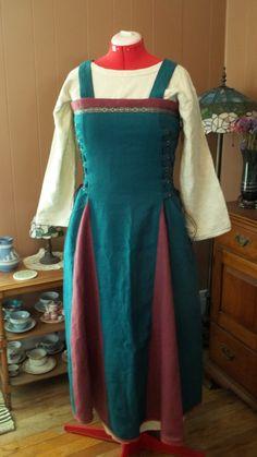 Custom Linen Apron Dress by LARPEssentials on Etsy
