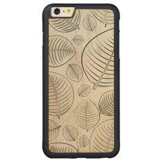 Simple Leaf Design Carved® Maple iPhone 6 Plus Bumper http://www.zazzle.com/simple_leaf_design_wood_case-256103379203647647?rf=238712894402317539