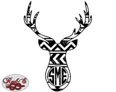Aztec Buck Monogram by RedEorKnot on Etsy https://www.etsy.com/listing/257222990/aztec-buck-monogram