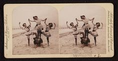 Vacation sports at the seaside. Published by Strohmeyer & Wyman, c1898.  Stereograph Cards Collection, Library of Congress Prints and Photographs Division.