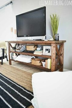 TV Stand   Rustic Furniture Projects For A Handmade Home