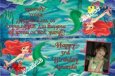 Little Mermaid Party Favors Candy Bag Labels