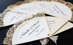 Spanish Vintage Wedding Invitation Fans