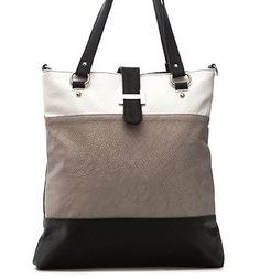 "Handbag ""Antonia 1"", leather purse, women handbag, leather bag, ladies leather bag, PU- leather handbag,Black and White Bag. €58,00, via Etsy."