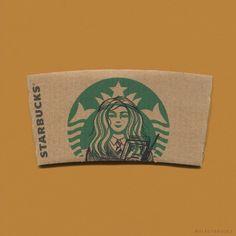 Encore un artiste qui s'amuse à détourner le logo de Starbucks