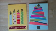 Für Kinder: Weihnachtskarten Washi