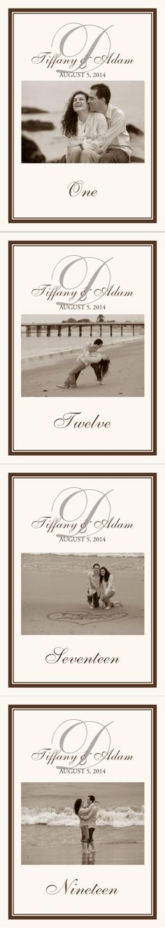 Photography Wedding Table Numbers