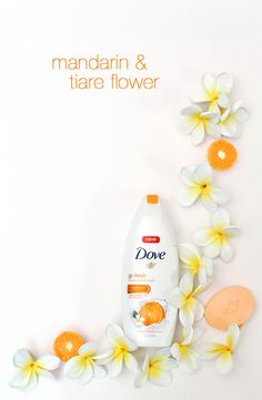 Open NEW Dove go fresh Revitalize Body Wash or Beauty Bar and imagine yourself peeling open a juicy mandarin, or walking through a field of tiare flowers. Breathe in the refreshing scent and awaken your senses with each and every shower. Bringing your shower to life is simple with the help of Dove.
