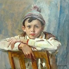 'Boy With A Woolen Hat' - Philip Naviasky (1894-1983) | English painter.