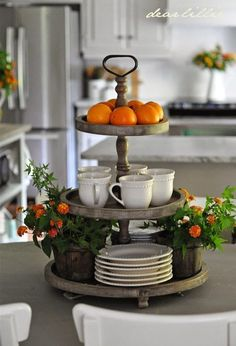 This is such a beautiful French Country idea for the kitchen.