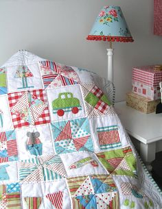 I Spy quilt pattern by broderie on Etsy, $22.00