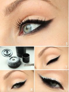 Make Up Tutorials To Get Your Beauty To The Subsequent Degree Fancy Makeup, Goth Makeup, Simple Makeup, Eye Makeup, Make Up Tutorials, Mascara, Professionelles Make Up, Smokey Eyes, Cute Diy Projects